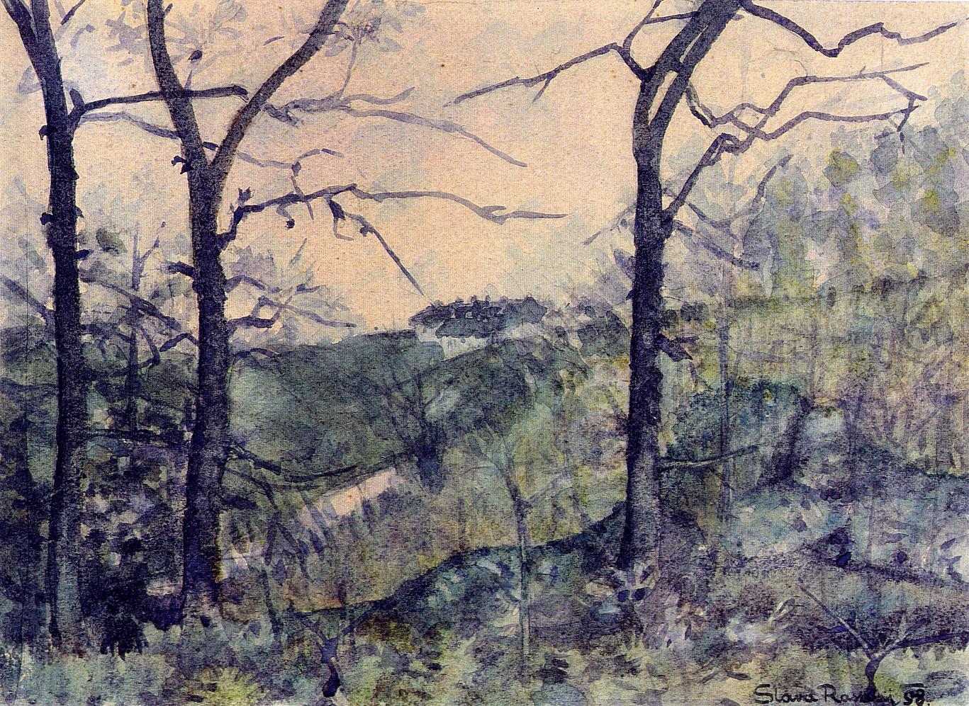 Pogled na Ozalj (1898) Slava Raškaj