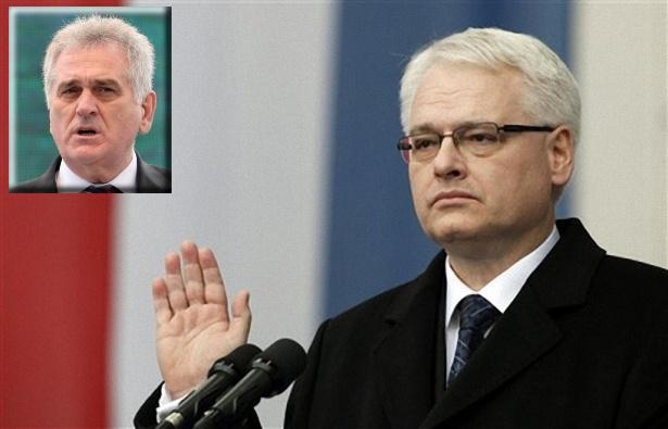 Ivo Josipović e Tomislav Nikolić (foto mondo.rs)