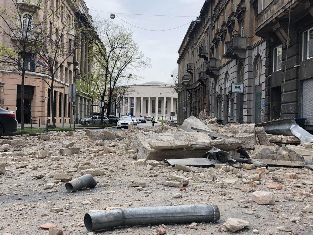 Zagabria dopo il terremoto, (foto © Maja Sever)