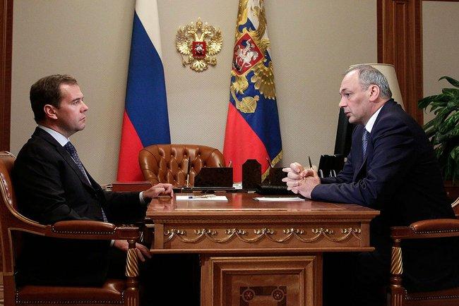 Dmitri Medvedev meets Magomedsalam Magomedov, President of Dagestan