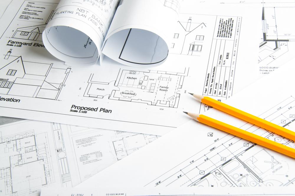 Un progetto architettonico di una casa