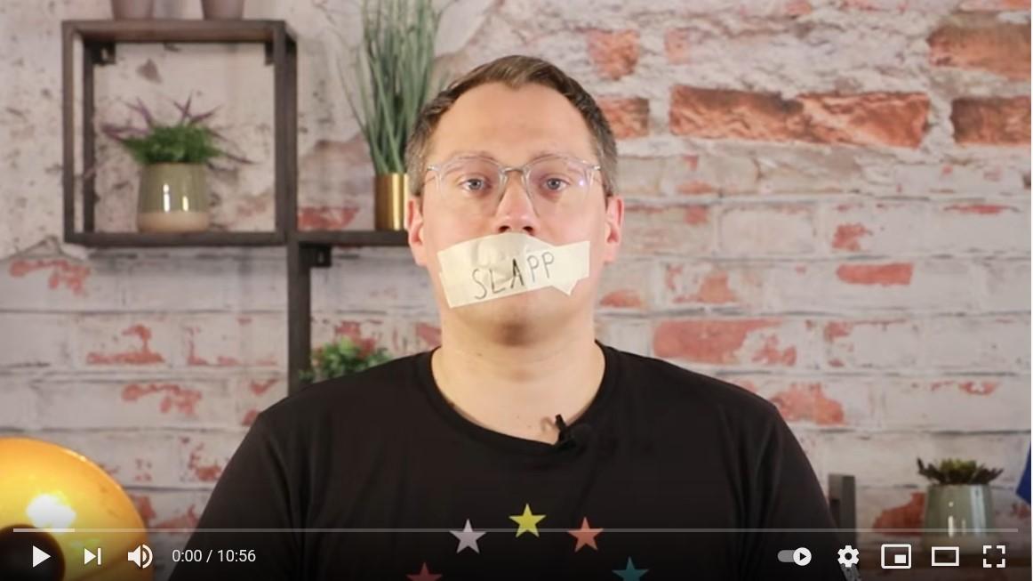 Screenshot del video dell'eurodeputato Tiemo Woelken