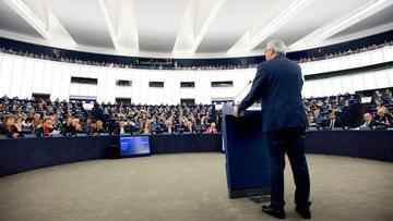 Strasbourg, 13 September 2017: EU Commission president Jean-Claude Juncker addressing the European parliament on his latest State of the European Union speech