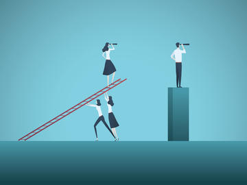 Symbolic illustration of gender gap