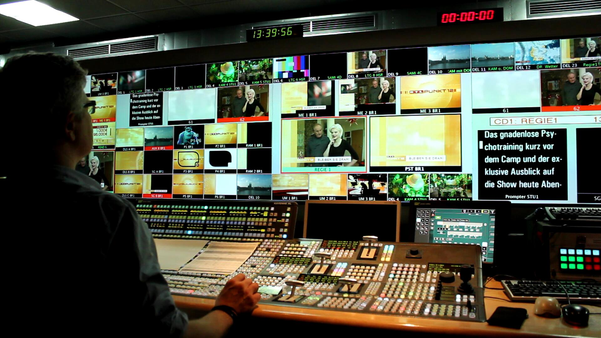 La regia del canale tedesco RTL (Wikipedia)