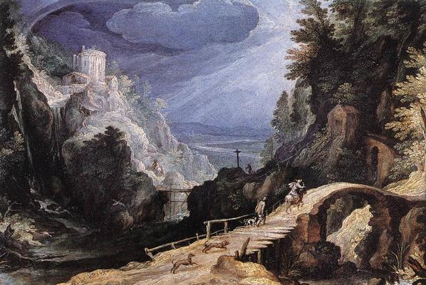 Paul Bril, Mountain scene, about 1599 – Wikimedia Commons