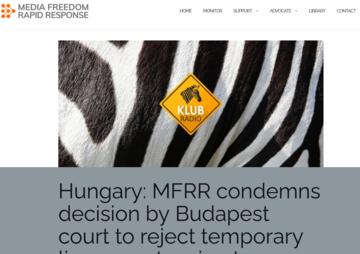 L'appello sul sito del consorzio MFRR