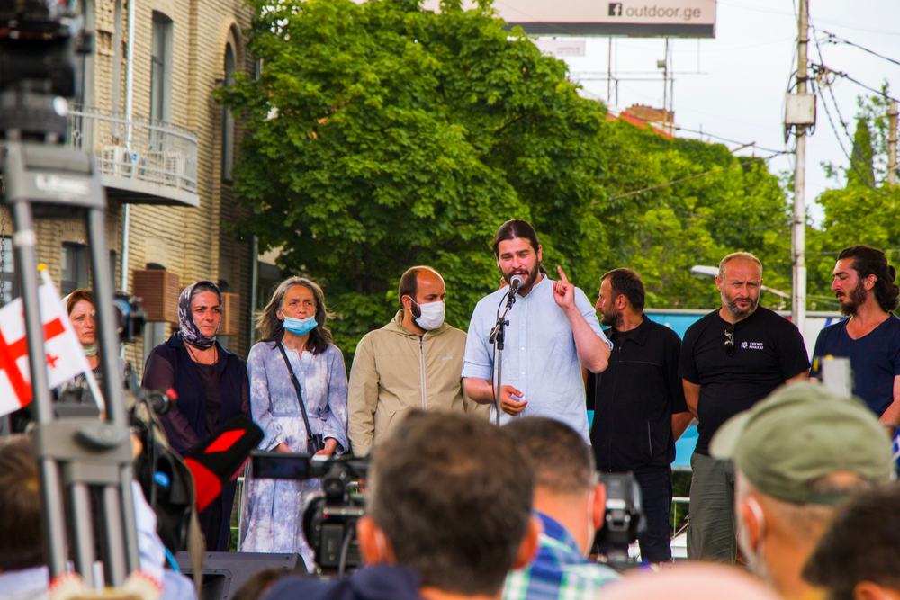 Protests against the Namakhvan project moved to the capital Tbilisi on May 26 (©Tai Dundua/Shutterstock)