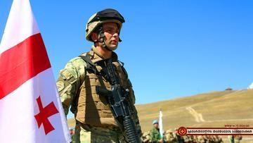Durante le esercitazioni di Agile Spirit (foto ministero della Difesa georgiano)
