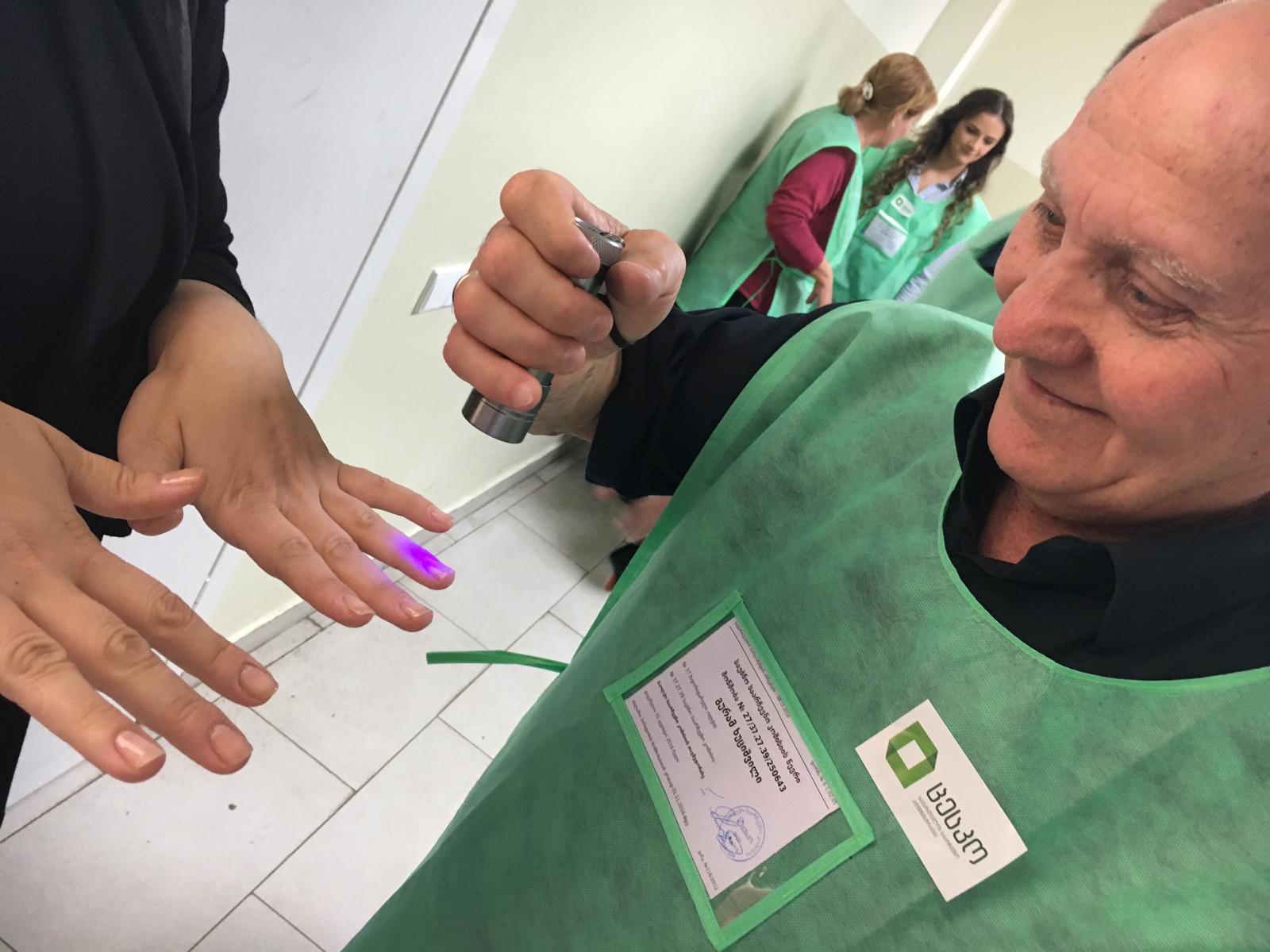 Georgia, seggio elettorale foto di M. Ellena