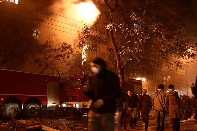 Atene dopo gli scontri del 12 febbraio