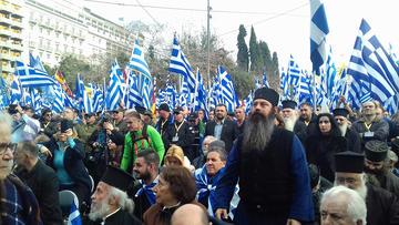Manifestanti anti-Prespa ad Atene - E.Krithari
