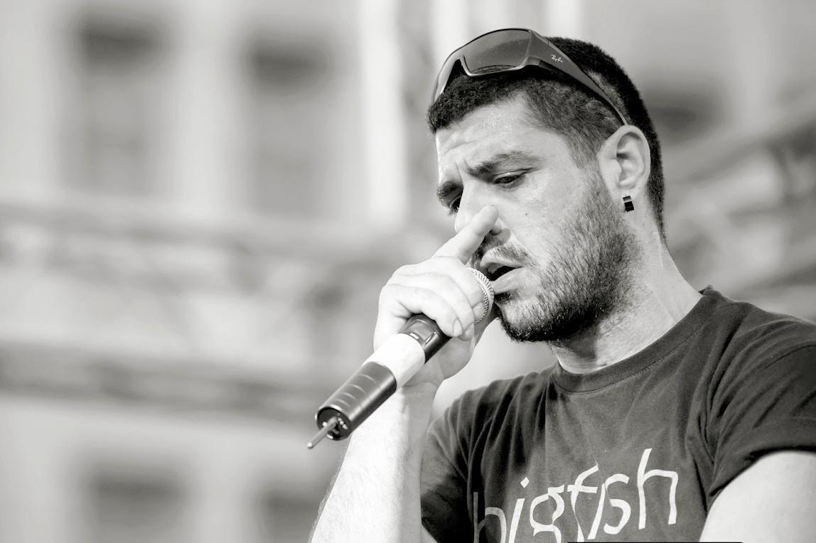 Pavlos Fyssas (foto John D. Carnessiotis)