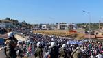 La manifestazione di sabato 12 settembre dei richiedenti asilo a Lesbo (© LcB/Rafenberg)