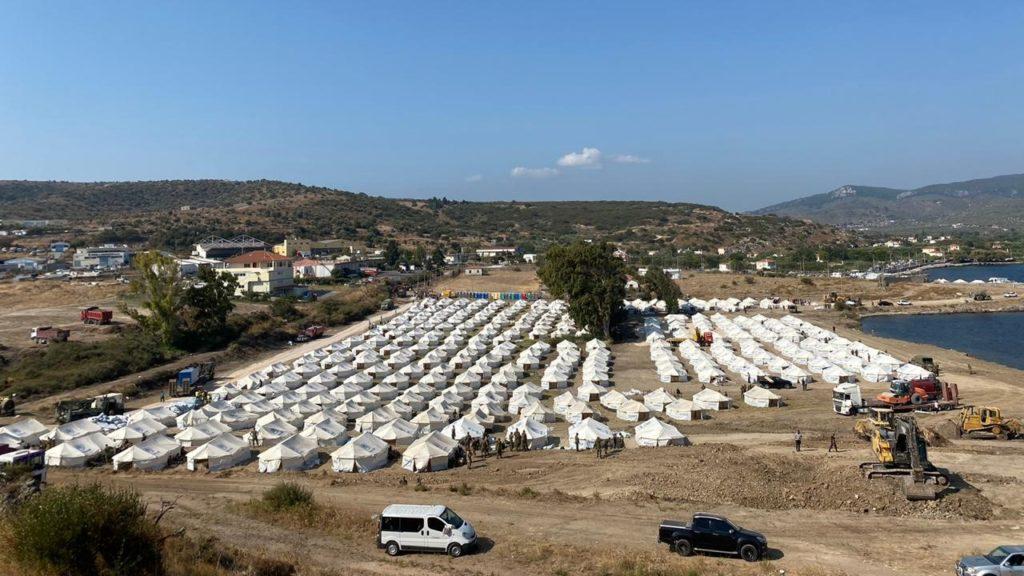 Campo temporaneo di Mitylene, foto Ministero Greco per le Migrazioni e l'asilo.jpg