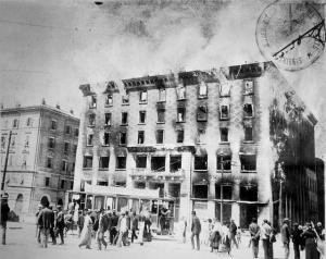 L'incendio di 100 anni fa (foto wikimedia)