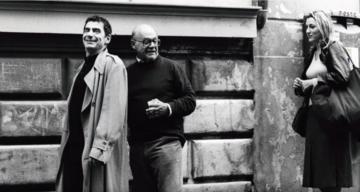 Franco Giraldi, sul set - immagine tratta dalla sigla del Premio Darko Bratina 2011 - Kinoatelje Gorica