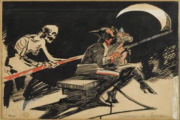 Mario Sironi, Chiaro di luna, 1915, tempera e china su carta
