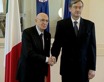 Giorgio Napolitano e Danilo Turk