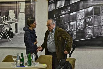 Sarajevo, 5 aprile 2012, Piero Del Giudice e Nicole Corritore - (Foto © Tullio Bugari)