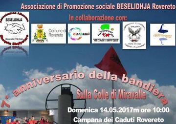 Anniversario bandiera albanese Colle Miravalle, maggio 2017.jpg