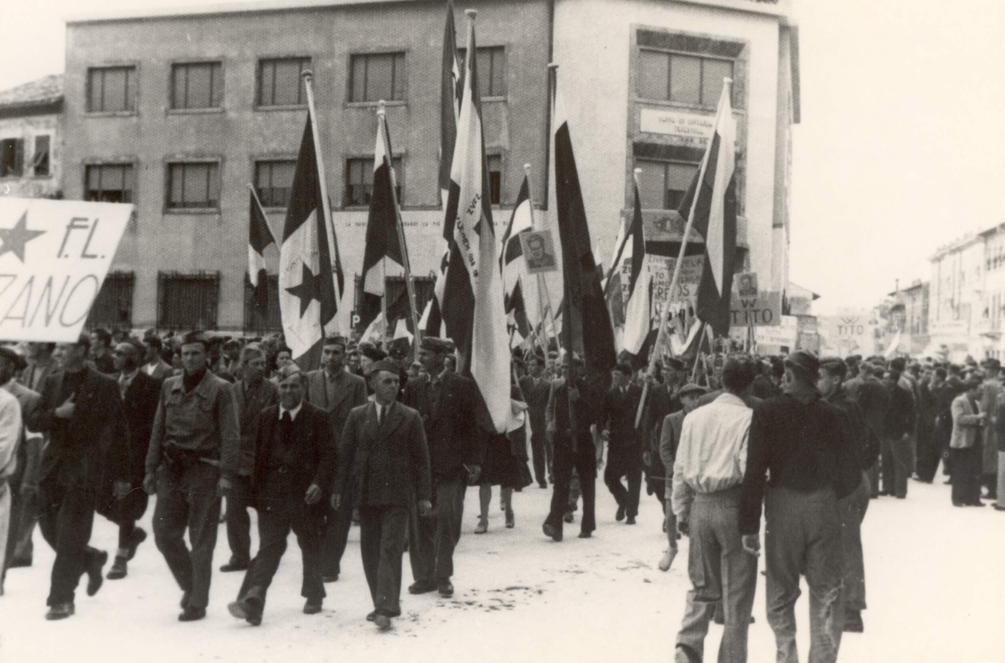 A pro-Yugoslav demonstration in Monfalcone circa 1946