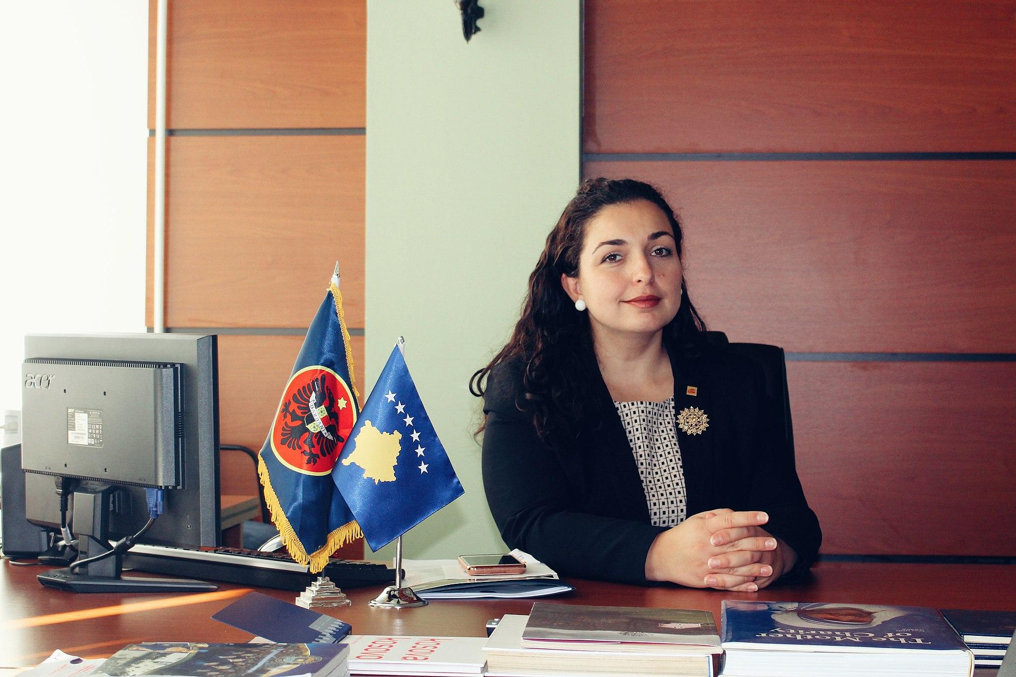 La candidata premier dell'Ldk Vjosa Osmani - Egnesa Vitia [CC BY-SA 4.0 (https://creativecommons.org/licenses/by-sa/4.0)]