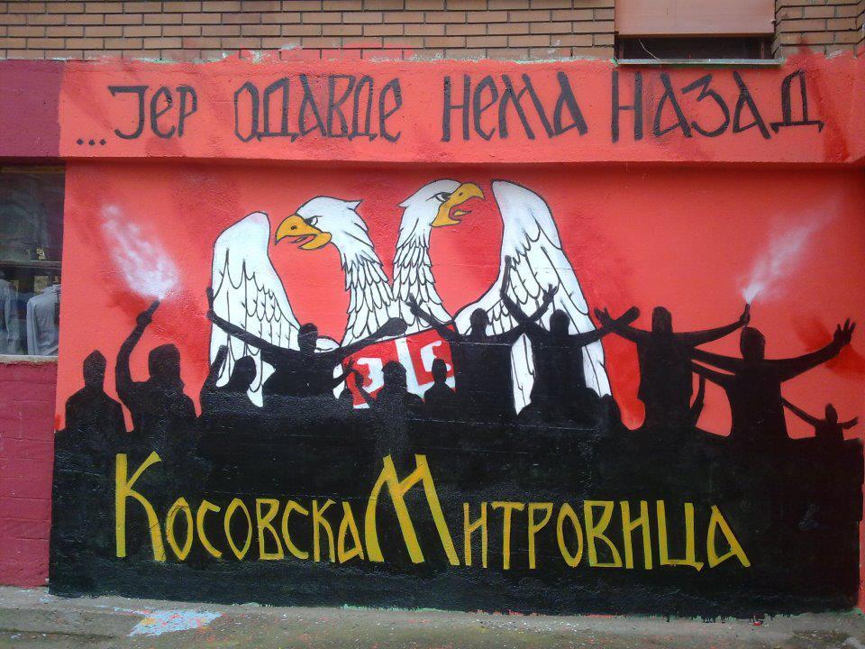 Murales a Mitrovica, Kosovo settentrionale