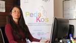 Federica Arezzi nel suo ufficio in Kosovo - foto di Adriana Di Conca