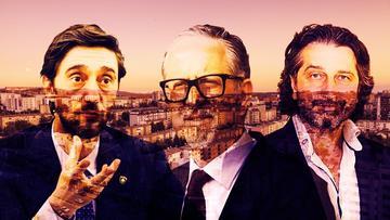 Immagine realizzata da Kosovo 2.0 che raffigura i tre principali candidati alla poltrona di sindaco di Pristina