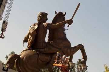 Skopje, la statua ad Alessandro Magno