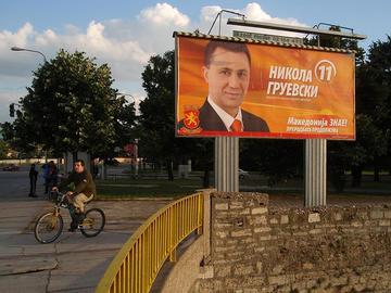 Cartello elettorale del premier macedone Nikola Gruevski nel 2008