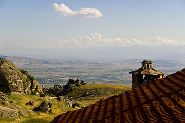 Veduta da un monastero in Macedonia
