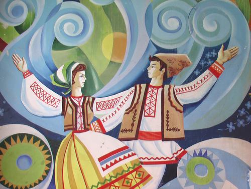 Murales della casa della cultura di Soroca, Moldova