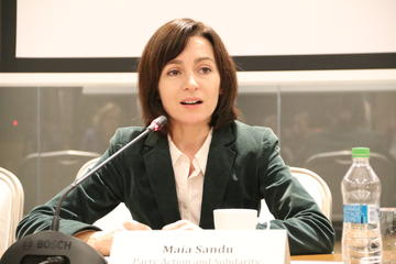 Una dei due attuali premier in Moldavia, Maia Sandu (OSCE Parliamentary Assembly/flickr)