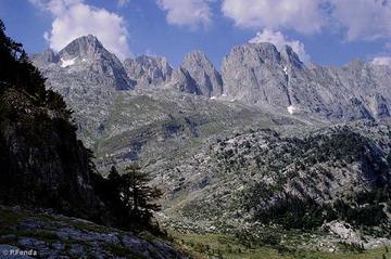 Montagne al confine tra Albania e Montenegro