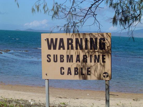 Attenzione cavo sottomarino (foto MANS)