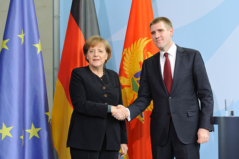Angela Merkel e Igor Lukšić