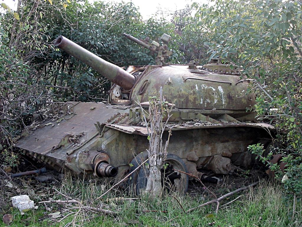 Un carro armato in Karabakh