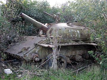 Un carro armato in Karabakh