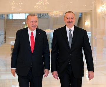 Recep Tayyip Erdoğan e Ilham Aliyev a Baku nell'ottobre 2019 © Alex Gakos/Shutterstock