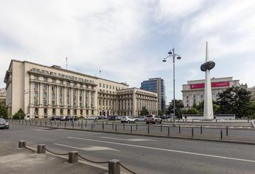 Bucarest, piazza Rivoluzione (foto di posztos/Shutterstock)