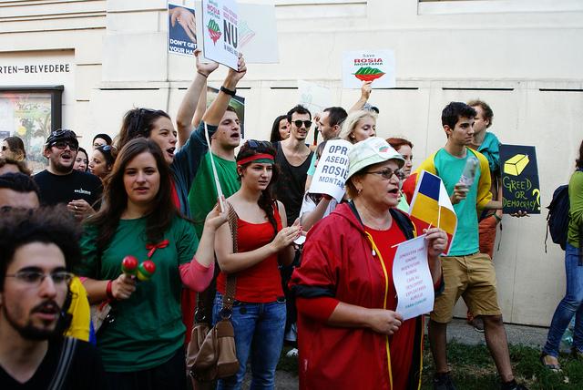 Anche a Vienna vi sono state proteste per salvaguardare Roșia Montană (flickr/Nichola Shore)