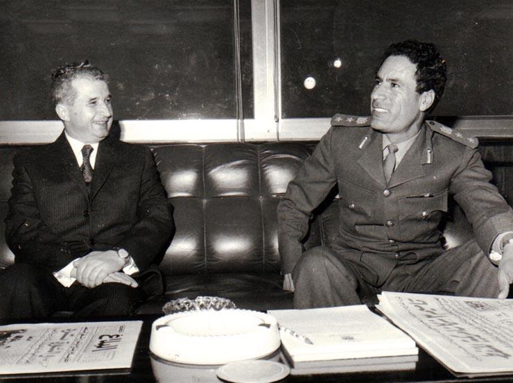 Foto d'archivio, Nicolae Ceauşescu  e Muammar Gheddafi