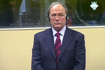 Vlastimir Djordjevic in the courtroom