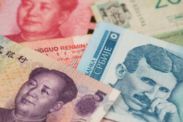 Chinese and Serbian banknotes  © Mc_Cloud/Shutterstock