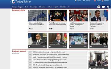Il portale web della Tanjug