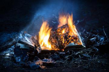 Books in flames © ArtMari/Shutterstock