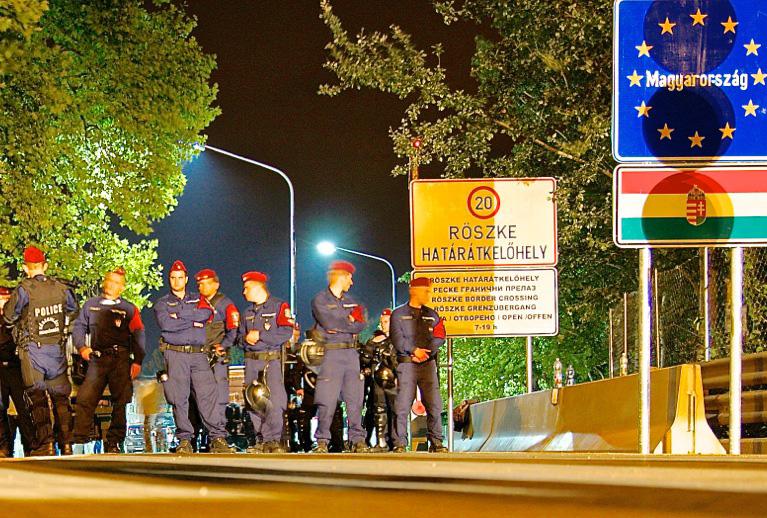 Ungheria, la sera in cui è stato chiuso il confine (foto L. Moreni)