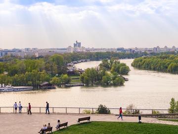 Belgrado, la confluenza della Sava nel Danubio (© Mark.Pelf/Shutterstock)